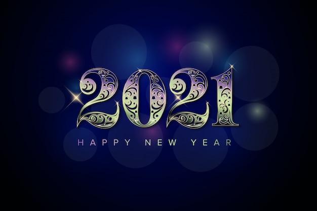 Elegante fondo de año nuevo 2021