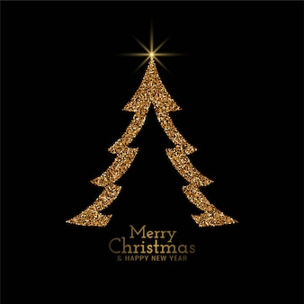 Elegante fondo de árbol decorativo de feliz navidad