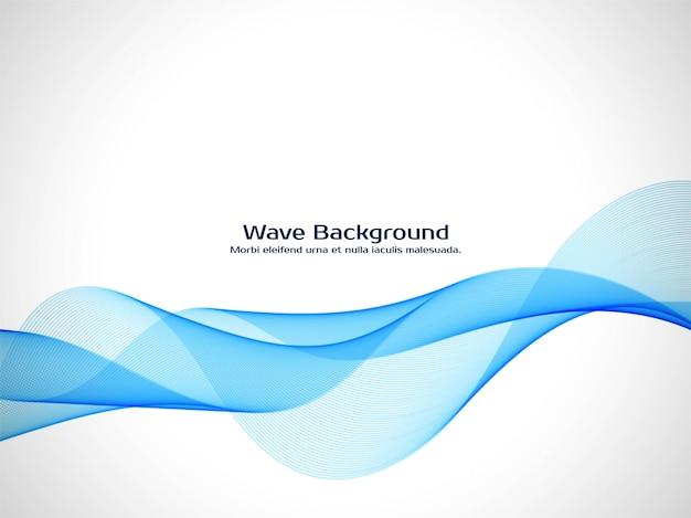 Elegante fondo azul de la onda