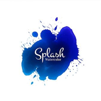 Elegante fondo azul splash acuarela