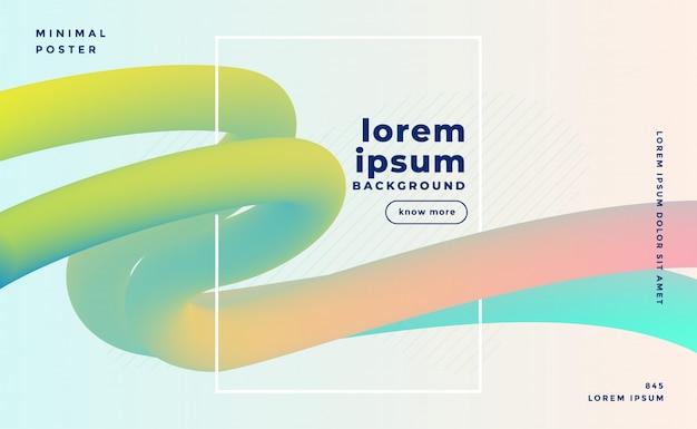 Elegante fondo de bucles fluidos de color pastel 3d