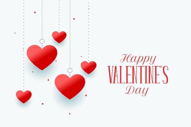 Elegante fondo de corazones feliz día de san valentín