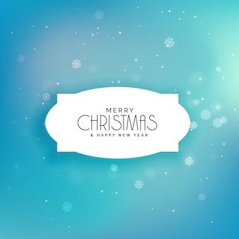 Elegante fondo de navidad azul festival de copos de nieve