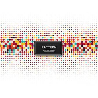 Elegante fondo de patrón de puntos de colores
