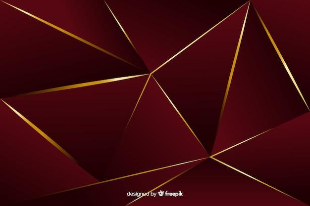Elegante fondo decorativo poligonal oscuro