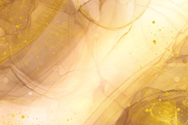 Elegante fondo dorado abstracto con elementos brillantes