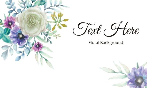Elegante fondo floral con acuarela floral