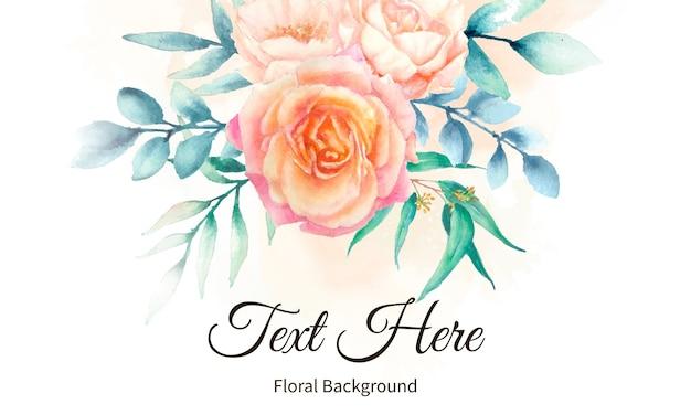 Elegante fondo floral acuarela
