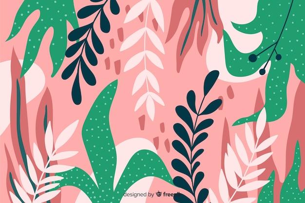 Elegante fondo floral dibujado a mano