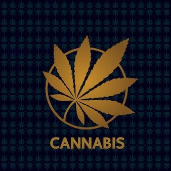 Elegante fondo de hoja de cannabis