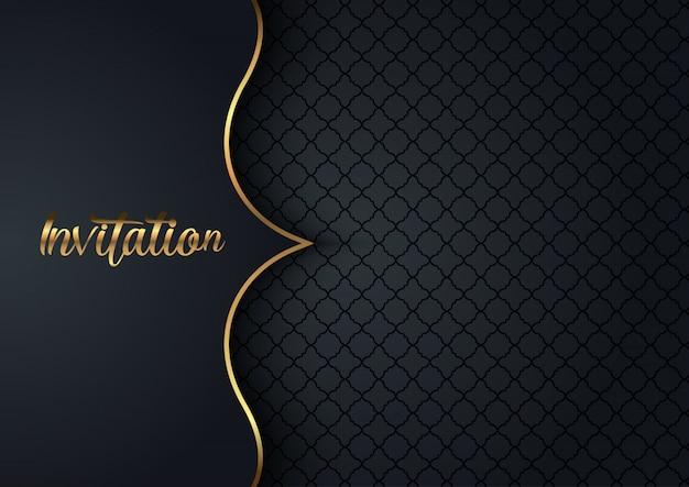 Elegante fondo de invitación