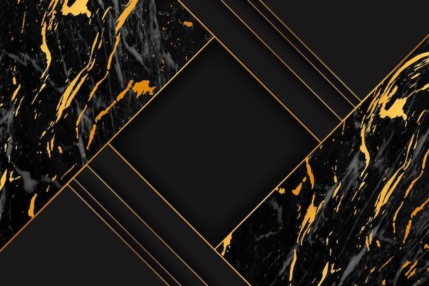 Elegante fondo de mármol negro y dorado.