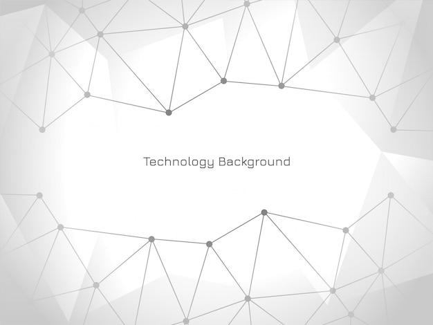 Elegante fondo moderno de tecnología conectada