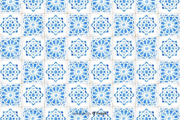 Elegante fondo de mosaico de acuarela