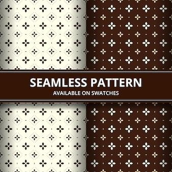 Elegante fondo de pantalla de fondo de patrón transparente de batik de indonesia tradicional en conjunto de estilo clásico marrón en color marrón