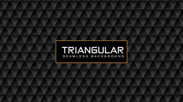 Elegante fondo de patrón triangular vip con efecto dorado brillante
