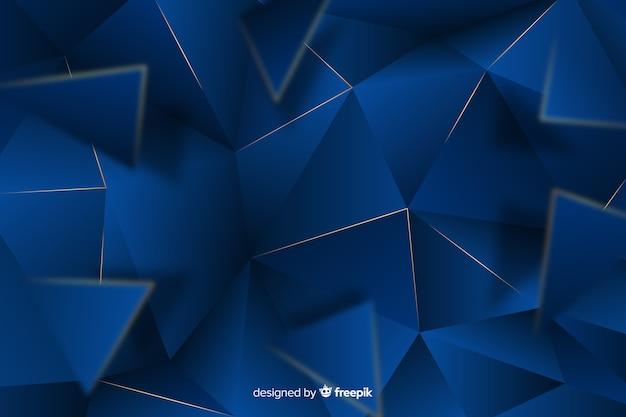 Elegante fondo poligonal azul oscuro