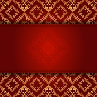 Elegante fondo en rojo y dorado.