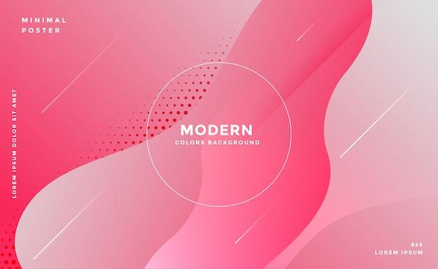 Elegante fondo rosa abstracto estilo fluido