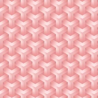 Elegante fondo rosa rosa de formas geométricas sin fisuras y patrón editable