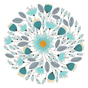 Elegante guirnalda floral. ilustración vectorial