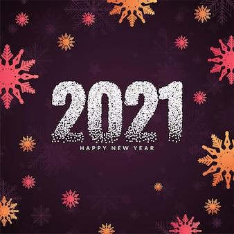 Elegante hermoso feliz año nuevo 2021