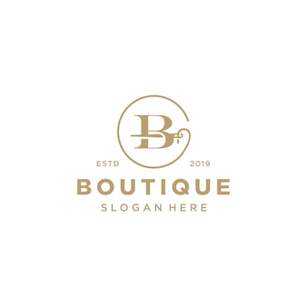 Elegante letra b logo