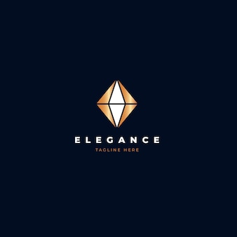 Elegante logo de diamantes