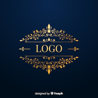 Elegante logo con elementos dorados