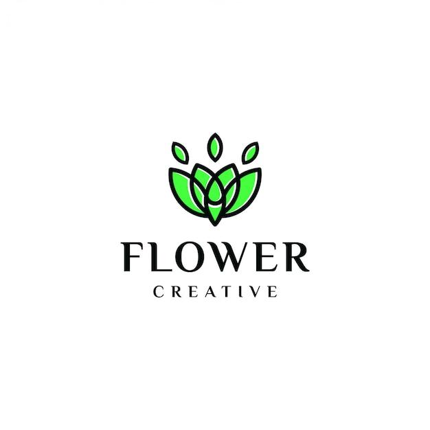 Elegante logo flores