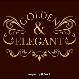 Elegante logo ornamental dorado
