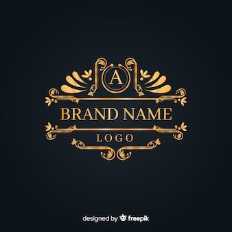 Elegante logo ornamental vintage