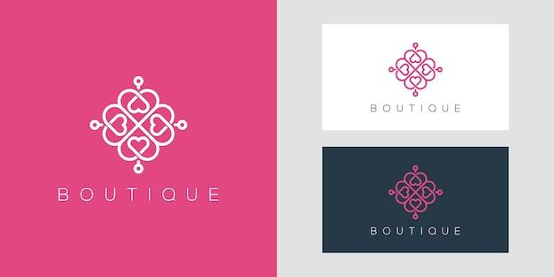 Elegante logotipo de diseño de adorno que inspira