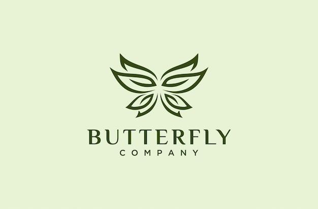 Elegante logotipo de mariposa