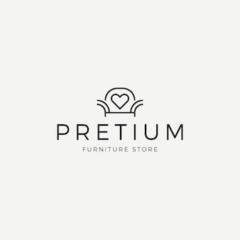 Elegante logotipo de muebles para tienda