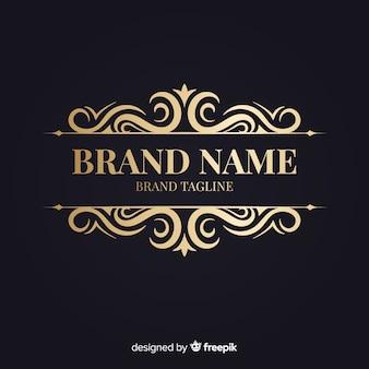 Elegante logotipo ornamental retro