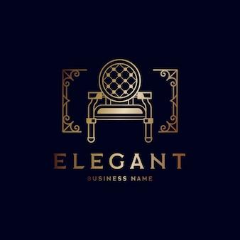 Elegante logotipo de tienda de muebles