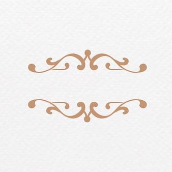 Elegante marco de adorno de broche de oro
