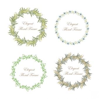 Elegante marco floral