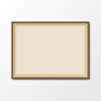 Elegante marco de fotos con sombra. ilustración vectorial
