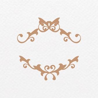 Elegante marco ornamental bronce