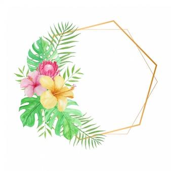 Elegante marco tropical