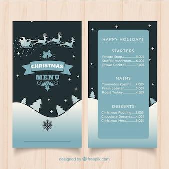 Elegante menú de navidad