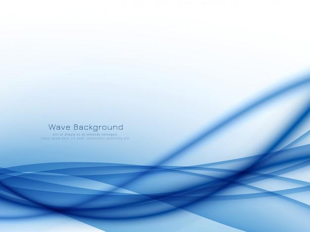 Elegante ola azul elegante