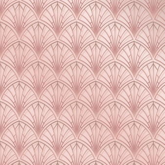 Elegante patrón art deco rosa