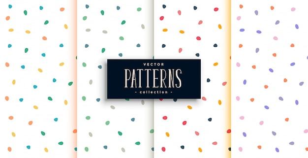 Elegante patrón blanco con curvas coloridas formas redondas
