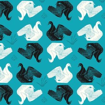 Elegante patrón de cisne