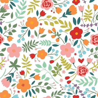 Elegante patrón sin costuras con flores