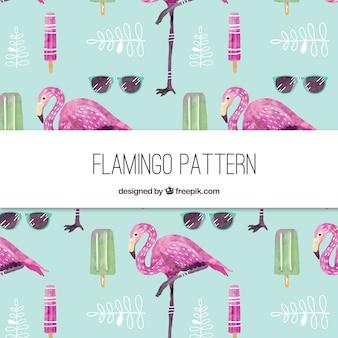Elegante patrón de flamingo
