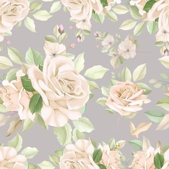Elegante patrón floral sin fisuras